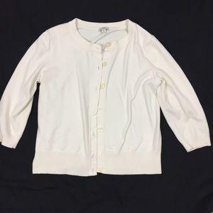 J.jill Stretch sweater Cardigan top RN#97641